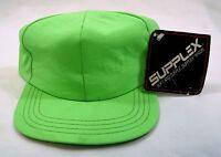 Vintage 1980's Neon Green Supplex Nylon Hat