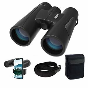 Borio 12x42 Roof Prism Binoculars for Adults with Universal Adapter HD Profes...