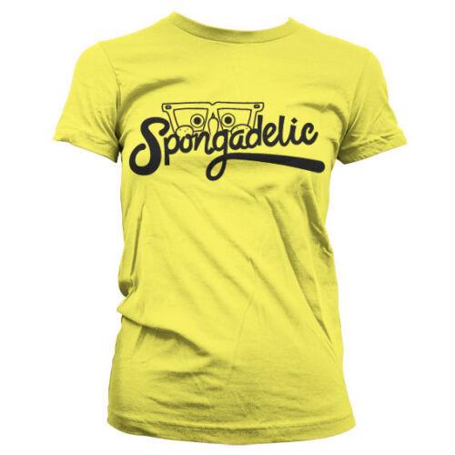 Officially Licensed Sponge Bob Spongadelic Women T-Shirt S-XXL Sizes