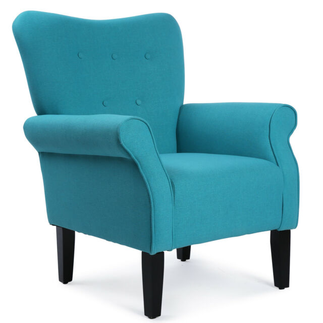 Brilliant New Modern Tufted Accent Chair Living Room Armrest High Backrest Linen 3 Color Bralicious Painted Fabric Chair Ideas Braliciousco