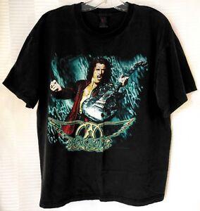 1997-Vintage-Aerosmith-Nine-Lives-Concert-Tour-T-Shirt-Sz-XL-Black-Tee-1990-039-s