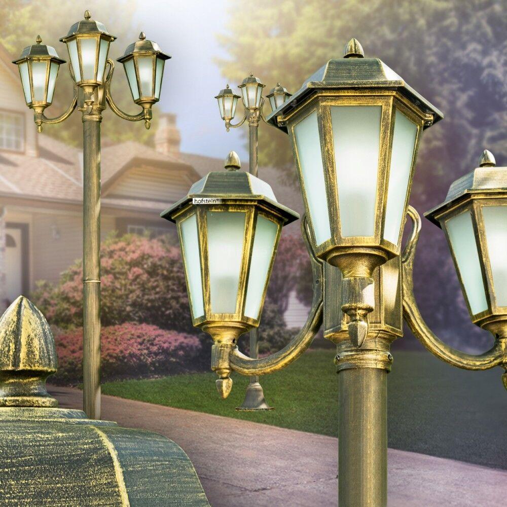 Judio negro-oro caminos jardín iluminación exterior pie luces cristal esmerilado
