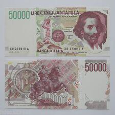 RIPRODUZIONE 50.000 LIRE BERNINI II REPUBBLICA ITALIANA 50000 LIRA FDS BANKNOTE