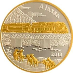 Alaska Mint 2018 Official State Medallion Silver Medallion Proof 1 Oz