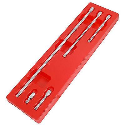"NEW Socket Wobble Bar Extension 5pc Tool Set 3/8"" Drive - EXTRA LONG PRO TOOLS"