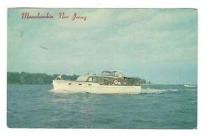 Pleasure-Boat-Manahawkin-New-Jersey-Vintage-Postcard-LS2