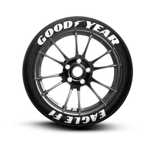 """Permanent Tire Letter Goodyear Eagle F1 White Stickers 15/'16/'17/'18/'19/'20/""""21/""""22"""