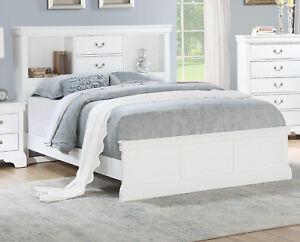 Bedroom White Solid Pine Wood Est King