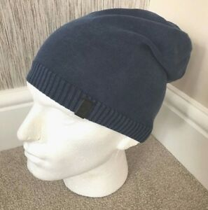 ad3a0fd994dae Image is loading TRUE-RELIGION-BLUE-DISTRESSED-SLOUCH-BEANIE-HAT-BNWT