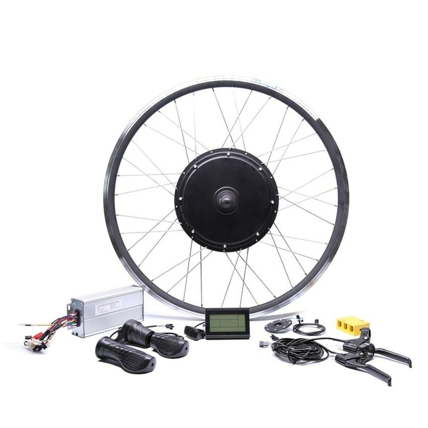 Electric Bike Hub Motor Conversion Kit 48V 1500W rear high speed Bicycle 20-28In