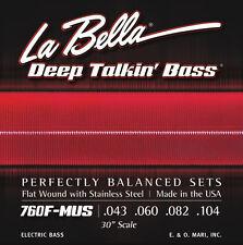 LA BELLA 760F-MUS DEEP TALKIN' FLATWOUND BASS STRINGS, FENDER MUSTANG BASS