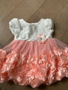 Baby-girls-12-month-floral-dress-with-Rhinestone-accent