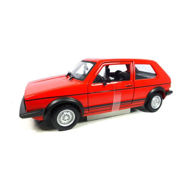 Bburago 21089 VW Golf MK1 Gti Red Scale 1:24 Model Car New! °