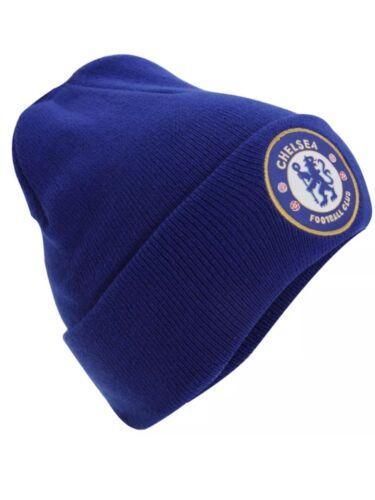Chelsea en tricot chapeau d/'hiver Beanie TU RY cadeau nouveau Official Licensed Football Club