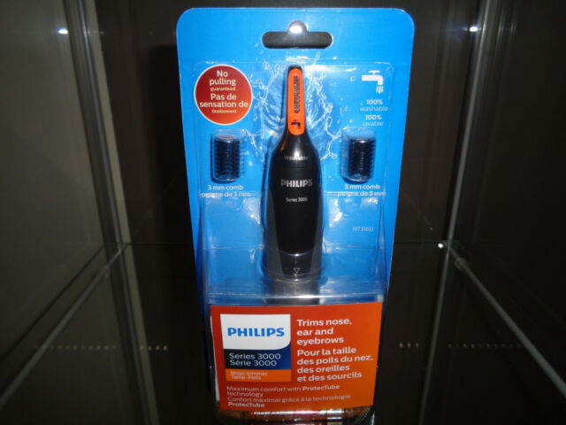 Philips NT3160 Nose Ear Hair Eyebrow Water-Proof Trimmer Series 3000 BRAND NEW