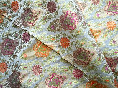 Silk Cotton Brocade Costume Sewing Fabric Wedding Dress Fabric