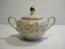 Bavaria Elfenbein Porzellan sugar bowl with gold trim