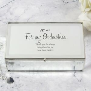Details About Personalised Jewellery Box Mr Mrs Godmother Bride Parents Gifts Bridesmaids