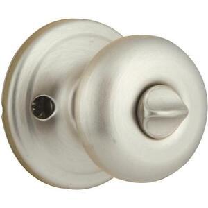 Kwikset juno satin nickel privacy interior door knob - Satin nickel interior door knobs ...