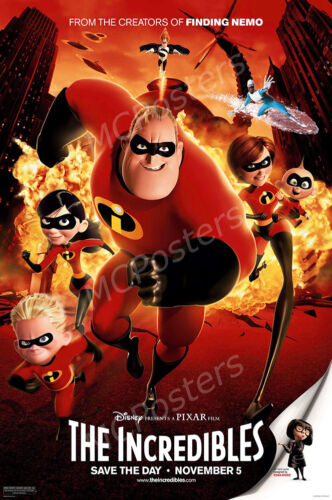 Disney Classic The Incredibles Movie Poster Glossy Finish MCP189 Posters USA