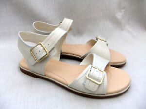 1a45c308482 NEW CLARKS BAY PRIMROSE WOMENS OFF WHITE LEATHER SANDALS SIZE 6 ...
