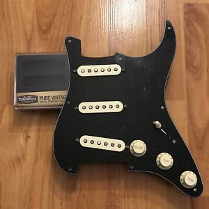 NEW-Tonerider-Pure-Vintage-Strat-Pickup-Set-Loaded-Pickguard-PIO-Harness-Prewire