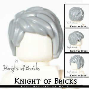 Lego New Light Bluish Gray Minifigure Hair Female Short Tousled Side Part Piece