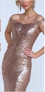 Gorgeous-Sequins-Dress-Size-20-Ball-Gown-Wedding-Formal-Bridesmaid
