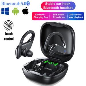 TWS Auriculares Inalámbricos Bluetooth 5.0 Auricular Ear-Hook EstéReo Deportivo
