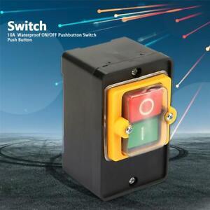 220V-380V-10A-interruttore-a-pulsante-ON-OFF-impermeabile-A-prova-di-olio
