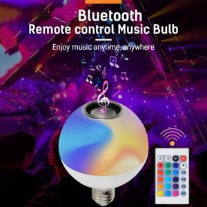Smart-RGB-Wireless-Bluetooth-Speaker-LED-Bulb-Light-Dimmable-with-Remote-Control