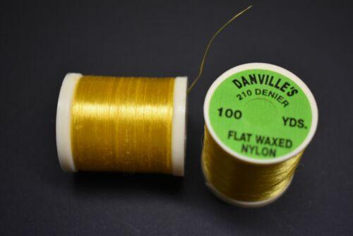 #8 YELLOW Flat Waxed Nylon Danville/'s Thread 210 Denier 1 Spool 100 yards