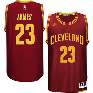 save off 32503 dcc38 Details about Adidas LeBron James Cleveland Cavaliers Road Swingman Jersey