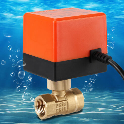 AC 220V DN15 DN25 Electric Ball Valve 2 Way 3-Wire Valve for Water Gas Oil GL