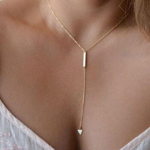 Fashion Women Chain Pendant Crystal Choker Chunky Statement Bib Necklace Jewelry