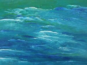 BLUE-GREEN-SEASCAPE-Oil-Painting-9-034-x12-034-Direct-from-Artist-OOAK-Julia-Garcia