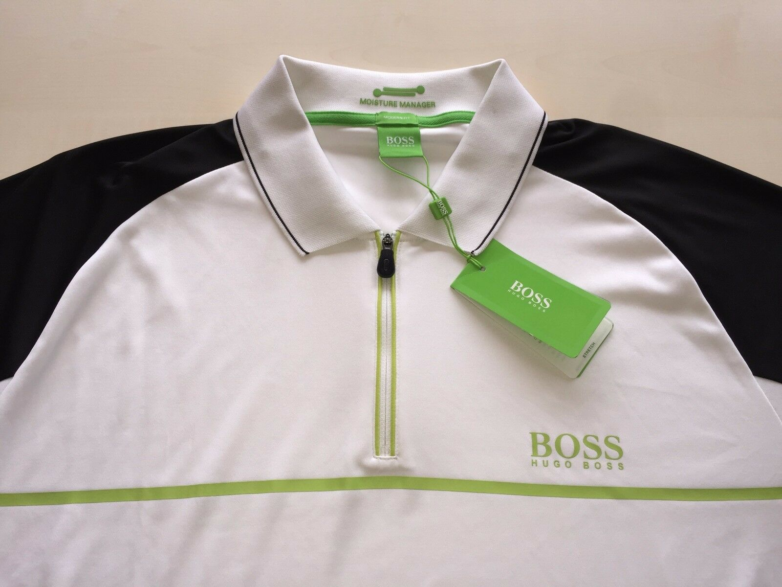 HUGO BOSS Grün LABEL Herren POLO SHIRT,PREK PRO,SZ -2XL/XXL, MODERN FIT, NEW