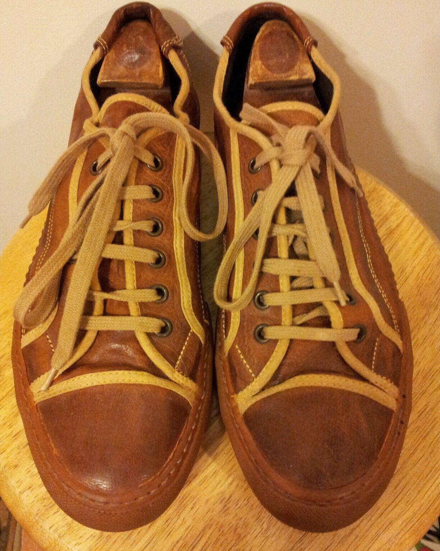 PANTOFOLA D'ORO BROWN EU LEATHER TENNIS Schuhe CHUCKS EU BROWN 45 46f932