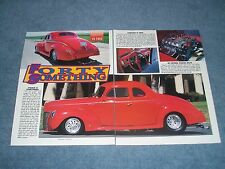 """1940 Ford Deluxe Coupe Vintage Pro Street Article """"Forty Something"""""""