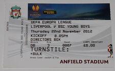 Ticket for collector EL Liverpool FC England Young Boys Bern Switzerland Schweiz
