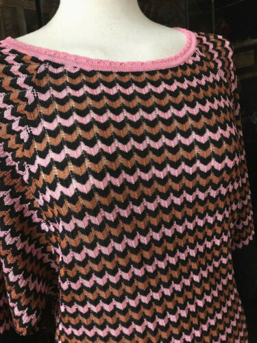 Missoni Zacken Rosa 36 gr Pullover Marrone Nero aPBxH0a