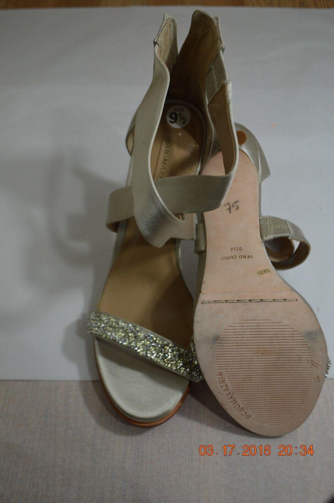 BCBGMaxAzria Wouomo Glitter Strappy High-Heel Sandal US 9.5