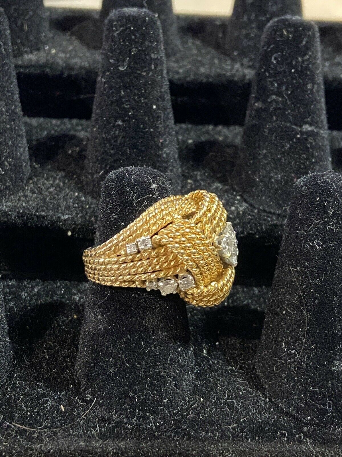 Vintage Gold And Diamond Ring - image 4