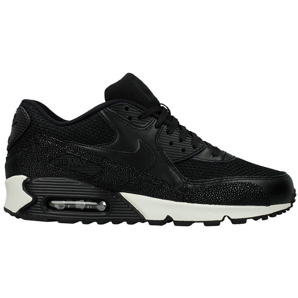 Dimensione 10 uomini air max 90 cuoio nike pa scarpe 705012 001 bianco nero