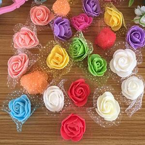 10-100-Mousse-Fleur-Rose-Maison-De-Decoration-De-Mariage-Artisanat-FE