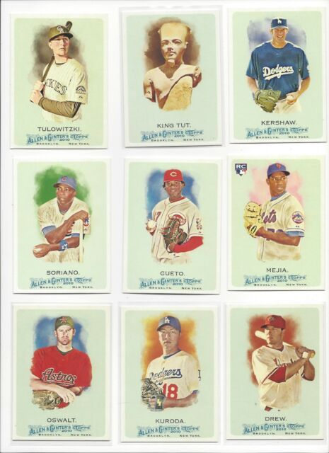 2010 TOPPS ALLEN & GINTER A & G - STARS, RC'S, HOF - WHO DO YOU NEED!!