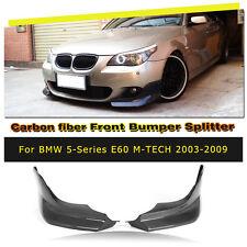 Kohlefaser Front Spoilerlippe splitter klappen Für BMW E60 M Sport  M Tech 03-09