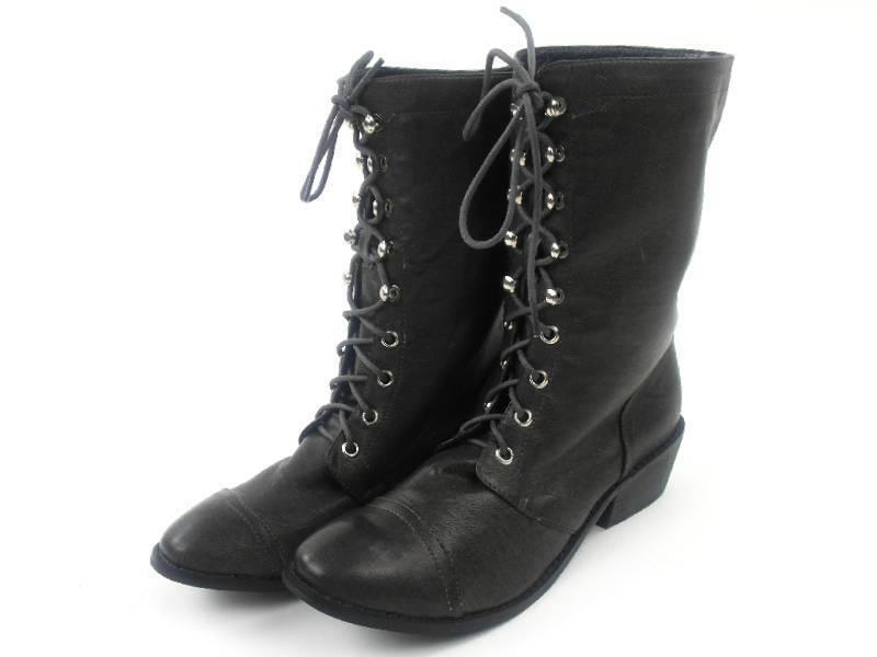 original Friis & Company Stiefel Boots Schanne dunkelgrau Blockabsatz