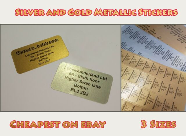HIGHLY PERSONALISED RETURN ADDRESS STICKY STICKER LABELS CHEAPEST ON  New