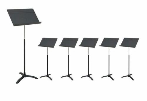 Flat Black Carton of 6 Strukture Orchestral Music Stands Free Shipping
